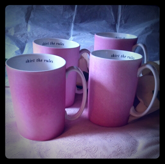 """kate spade Other - Kate Spade for Lenox """"skirt the rules"""" Pink Mugs"""
